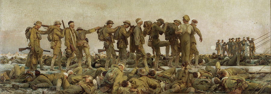 gassed sargent ghosts ypres salient